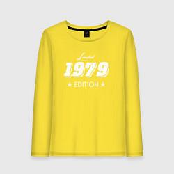 Лонгслив хлопковый женский Limited Edition 1979 цвета желтый — фото 1