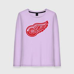 Лонгслив хлопковый женский Detroit Red Wings: Pavel Datsyuk цвета лаванда — фото 1