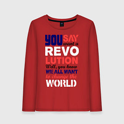 Женский лонгслив The Beatles Revolution