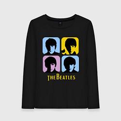 Женский лонгслив The Beatles: pop-art