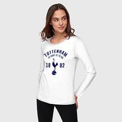 Лонгслив хлопковый женский FC Tottenham 1882 цвета белый — фото 2
