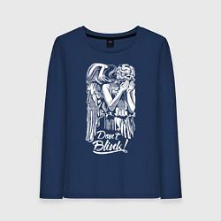 Лонгслив хлопковый женский Don't Blink, Доктор Кто цвета тёмно-синий — фото 1
