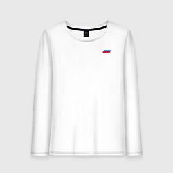 Лонгслив хлопковый женский Космические войска цвета белый — фото 1