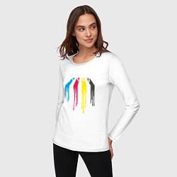 Лонгслив хлопковый женский Abbey Road Colors цвета белый — фото 2