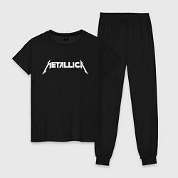 Пижама хлопковая женская Metallica цвета черный — фото 1