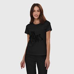 Пижама хлопковая женская In Flames цвета черный — фото 2
