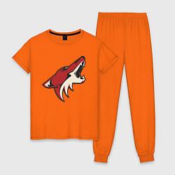 Пижама хлопковая женская Phoenix Coyotes цвета оранжевый — фото 1