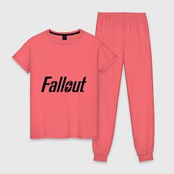 Пижама хлопковая женская Fallout цвета коралловый — фото 1