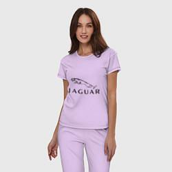 Пижама хлопковая женская Jaguar цвета лаванда — фото 2