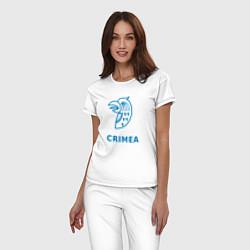 Пижама хлопковая женская Crimea цвета белый — фото 2