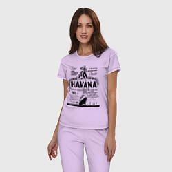 Пижама хлопковая женская Havana Cuba цвета лаванда — фото 2