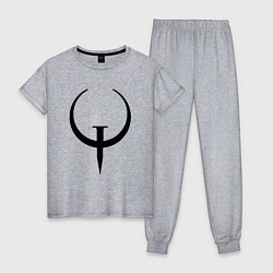 Пижама хлопковая женская Quake champions цвета меланж — фото 1