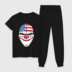 Пижама хлопковая женская American Mask цвета черный — фото 1