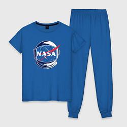 Пижама хлопковая женская NASA цвета синий — фото 1