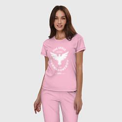 Пижама хлопковая женская The Eagle: Khabib UFC цвета светло-розовый — фото 2