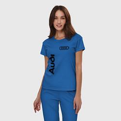 Пижама хлопковая женская Audi Style цвета синий — фото 2