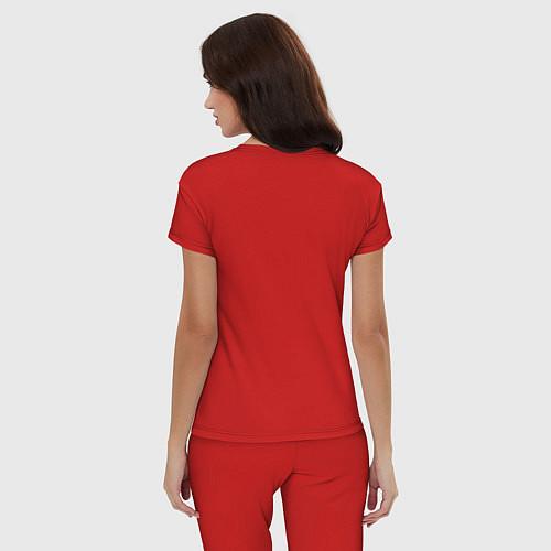 Женская пижама Эта ненормальная со мной / Красный – фото 4