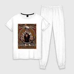 Пижама хлопковая женская Fight Century цвета белый — фото 1