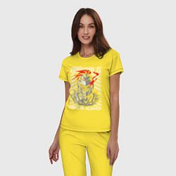 Пижама хлопковая женская Goblin Slayer Knight цвета желтый — фото 2