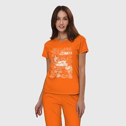 Пижама хлопковая женская Arctic Monkeys: I'm in a Vest цвета оранжевый — фото 2
