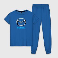 Пижама хлопковая женская MAZDA цвета синий — фото 1