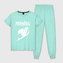 Пижама хлопковая женская FAIRY TAIL цвета мятный — фото 1