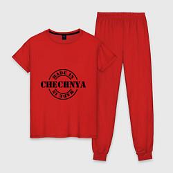 Пижама хлопковая женская Made in Chechnya цвета красный — фото 1