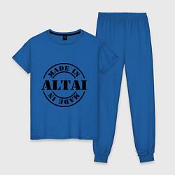 Пижама хлопковая женская Made in Altai цвета синий — фото 1