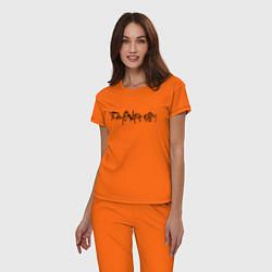 Пижама хлопковая женская SAYONARA BOY цвета оранжевый — фото 2