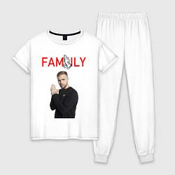 Пижама хлопковая женская ЕГОР КРИД - FAMILY цвета белый — фото 1
