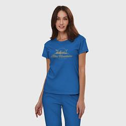 Пижама хлопковая женская Алтай Gold Classic цвета синий — фото 2
