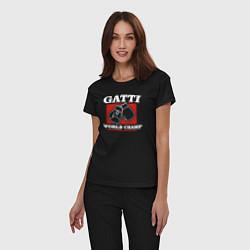 Пижама хлопковая женская Gatti цвета черный — фото 2