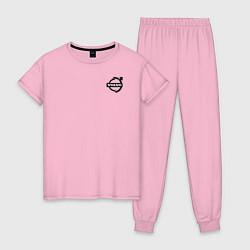 Пижама хлопковая женская VOLVO цвета светло-розовый — фото 1