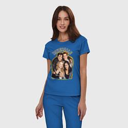 Пижама хлопковая женская Riverdale heroes цвета синий — фото 2
