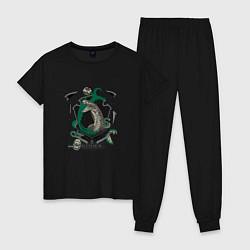 Пижама хлопковая женская Гарри Поттер цвета черный — фото 1