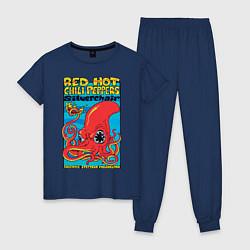 Пижама хлопковая женская Red Hot Chili Peppers цвета тёмно-синий — фото 1