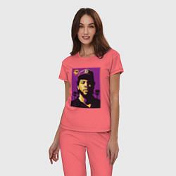 Пижама хлопковая женская Ice Cube цвета коралловый — фото 2