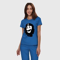 Пижама хлопковая женская Che Mario цвета синий — фото 2