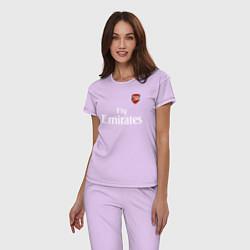 Пижама хлопковая женская ARSENAL цвета лаванда — фото 2
