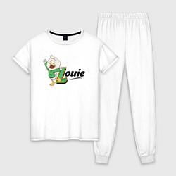 Пижама хлопковая женская Louie цвета белый — фото 1