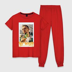 Пижама хлопковая женская Max Barskih цвета красный — фото 1
