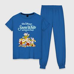 Пижама хлопковая женская Семь гномов цвета синий — фото 1