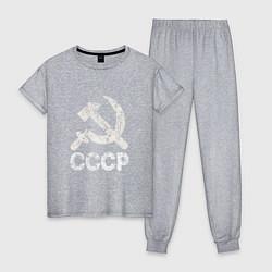 Пижама хлопковая женская СССР цвета меланж — фото 1