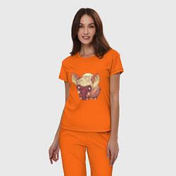 Пижама хлопковая женская Dont Starve цвета оранжевый — фото 2