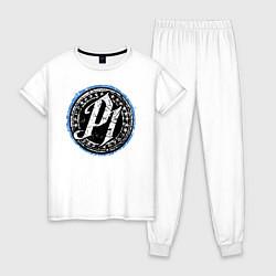Пижама хлопковая женская AJ Styles Phenomenal цвета белый — фото 1