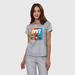 Пижама хлопковая женская DayZ ДэйЗи цвета меланж — фото 2