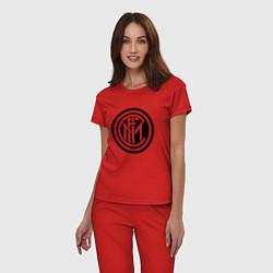 Пижама хлопковая женская INTERNATIONAL INTER MILAN цвета красный — фото 2