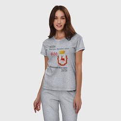 Пижама хлопковая женская НиНо 800 цвета меланж — фото 2