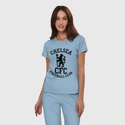 Пижама хлопковая женская Chelsea CFC цвета мягкое небо — фото 2