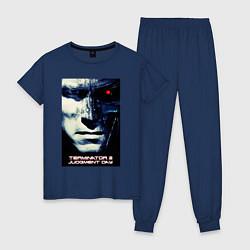 Пижама хлопковая женская Arnold T-800 цвета тёмно-синий — фото 1